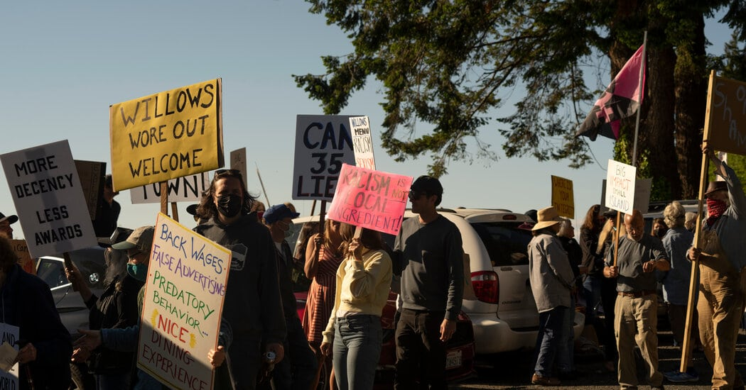 Island Residents Protest at the Willows Inn After Workplace Allegations